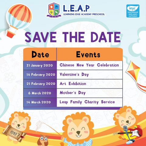 LEAP's Schedule Event