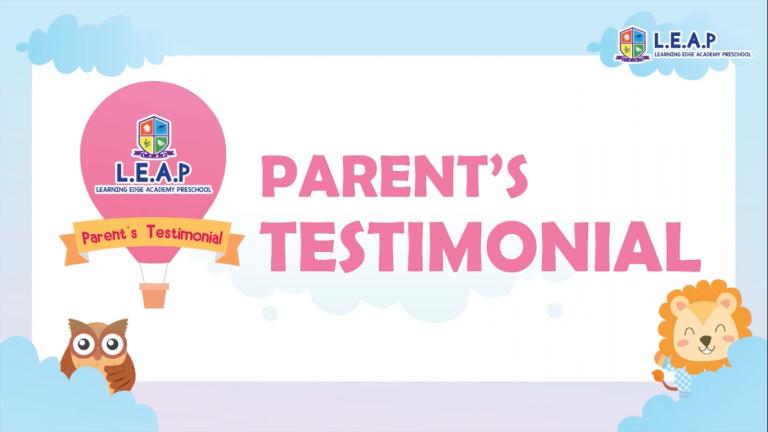 Parent's Testimonial